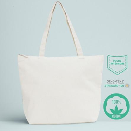Le sac de plage coton écru 280 gr / m²