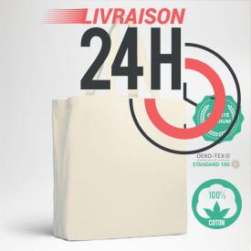 Le cabas en coton premium personnalisé en EXPRESS 24H