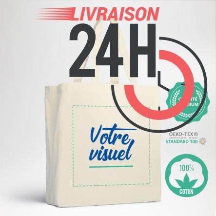 Le cabas en coton premium personnalisé en EXPRESS avec votre logo