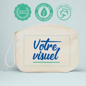 Votre visuel sur la Trousse en coton biologique l Atelier parisien de sac en coton personnalisé l Bagart.fr