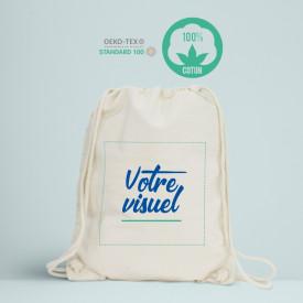 Votre visuel sur ce sac à dos - 200 GR/M² personnalisé en France dans notre atelier à Paris