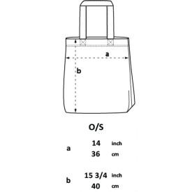 taille du Tote bag Recyclé 215 GR/M²