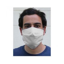 Masque coton blanc personnalisé dans l'atelier de Bagart