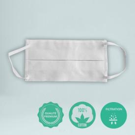 Le masque 100% coton - 120 gr/m² personnalisé en France