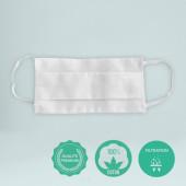 Le masque 100% coton blanc personnalisation en France par Bagart