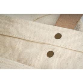 Coutures sur ce cabas coton épais imprimé en France dans l'atelier parisien de sac en coton personnalisé l Bagart.fr