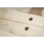Coutures sur ce cabas Ourcq coton épais imprimé en France dans l'atelier parisien de sac en coton personnalisé l Bagart.fr