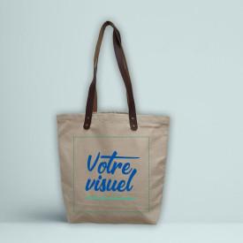 Votre visuel sur le cabas en coton premium l Atelier parisien de sac en coton personnalisé l Bagart.fr