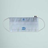 Votre visuel ou logo sur le masque coton français blanc 50 lavages marquage en France par Bagart