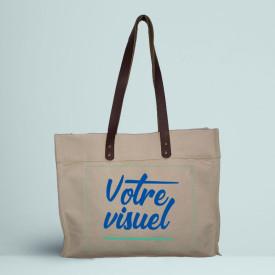 Votre visuel sur le cabas ourcq en coton premium l Atelier parisien de sac en coton personnalisé l Bagart.fr