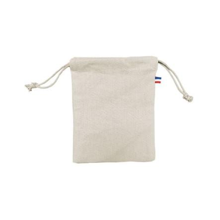 Pochon coton CRIMEE S - 250 GR/M² - made in France - 100% bio - couleur écru - impression numérique
