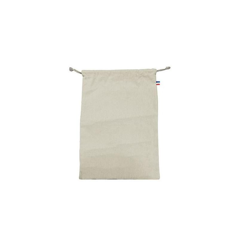Pochon coton CRIMEE L - 250 GR/M² - made in France - 100% bio - couleur écru - impression numérique
