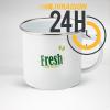 Mug en acier émaillé personnalisé   24H Chrono