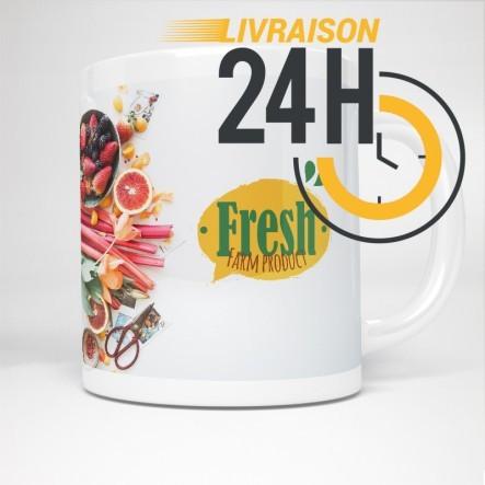 Mug en céramique personnalisé| 24H Chrono