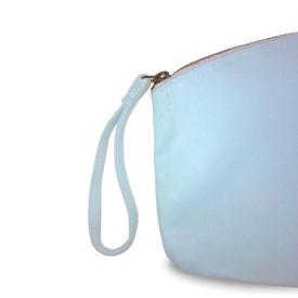 Grande trousse BIO 407 GR/M² - bleue pastel - zip