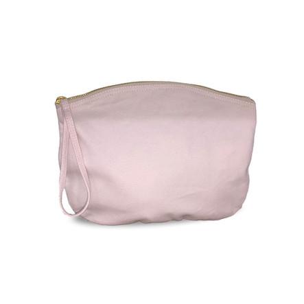Grande trousse BIO 407 GR/M² - rose pastel - zip