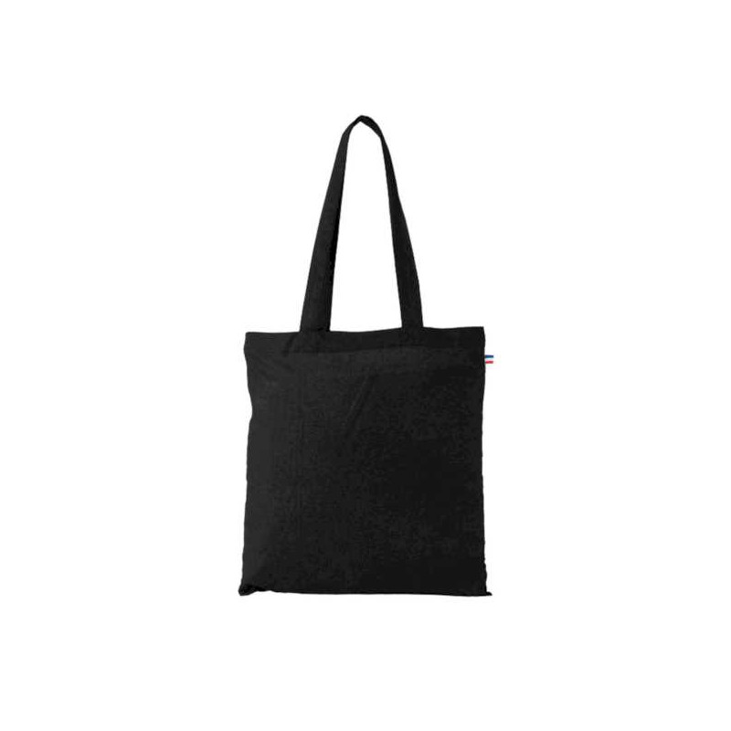 Tote bag biologique noir fabrication française