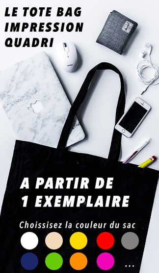 Tote bag personnalisé en France en Express 24h