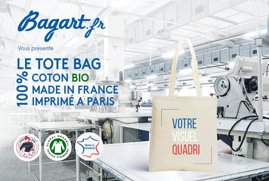 Un tote bag coton Bio, tissé et confectionné en France