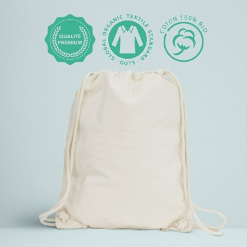 Sac à dos premium coton bio personnalisable