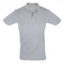 Polo - Made in France - gris chiné - recto