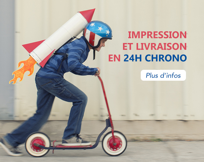 Impression de tote bag en 24h chrono